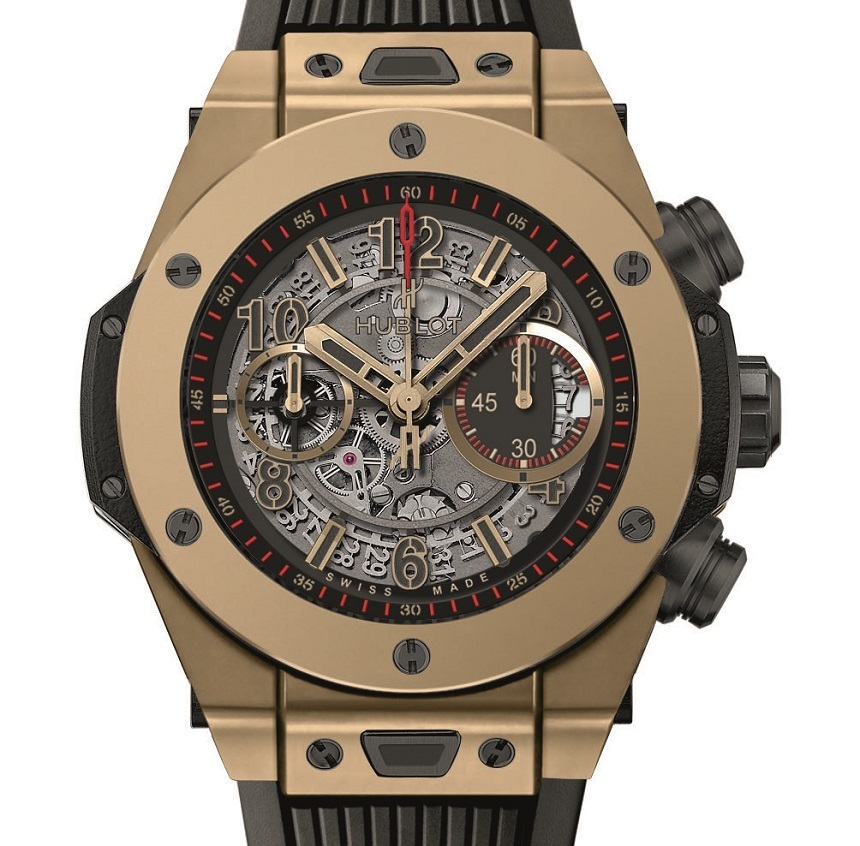 Hublot Big Bang Unico Full Magic Gold Watch