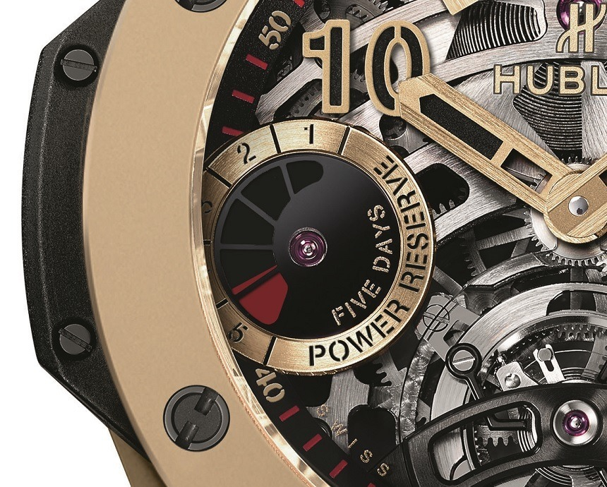 Hublot Big Bang Tourbillon 5-day Power Reserve Indicator Full Magic Gold Watch
