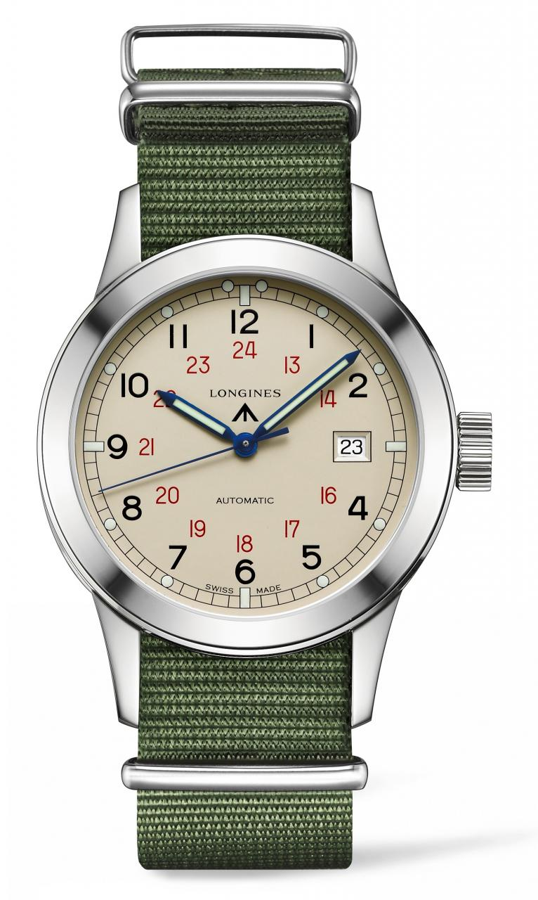Longines Heritage Military COSD white dial - L2.832.4.73.5 - Perpetuelle