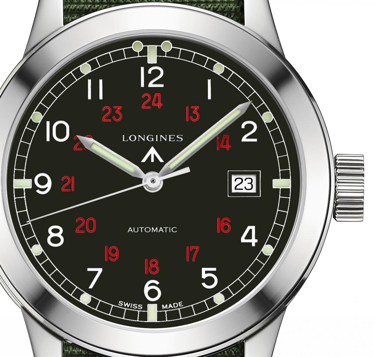 Longines Heritage Military COSD black dial - L2.832.4.53.5 - Perpetuelle