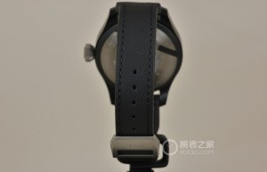 black embossed calfskin strap