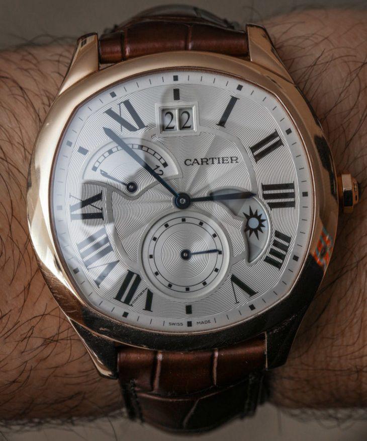 Cartier Drive De Cartier 'Small Complication' Gold Watch Review Wrist Time Reviews