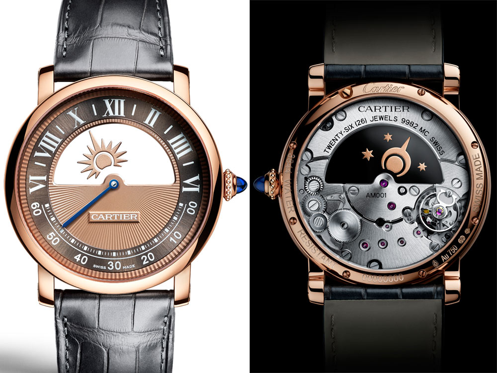 Cartier Rotonde De Cartier Watches Leather Strap Replica Mysterious Watches For 2018 Watch Releases