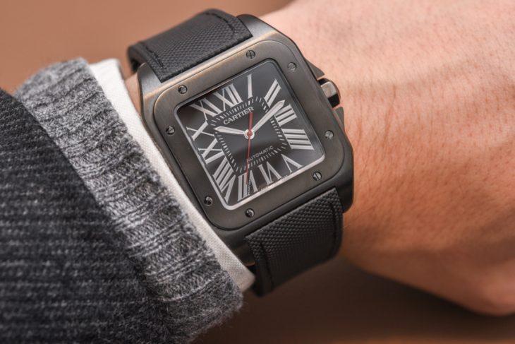 Cartier Santos 100 Carbon Watch Hands-On Hands-On