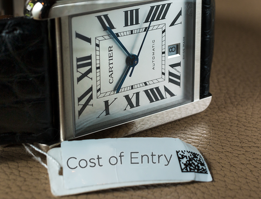 Cost Of Entry: Cartier Watch Kijiji Replica Watches Feature Articles