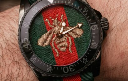 Gucci Dive 45mm 'Bee Embroidery' Dial Watch Review Wrist Time Reviews