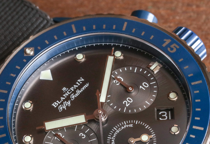 Blancpain Fifty Fathoms Bathyscaphe Flyback Chronograph Ocean Commitment II Watch Hands-On Hands-On