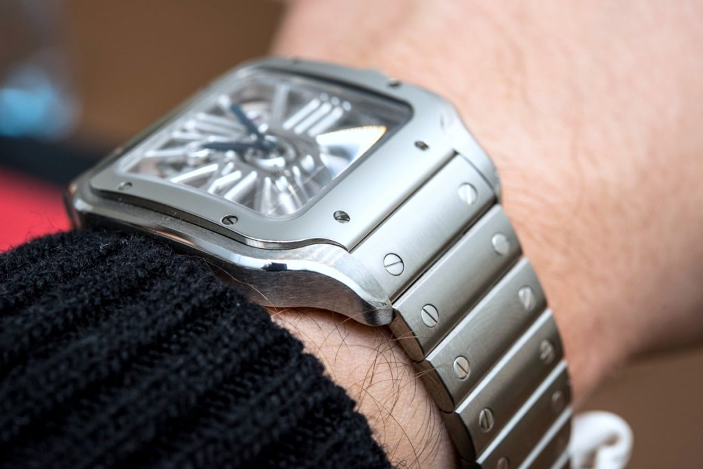 6b44c3dbfefc All in all, this truly is a somewhat bold way of dressing up the Santos —  among the strongest Cartier mens diamond clone collections today, ...